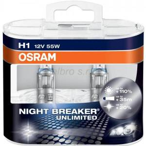 OSRAM H1 Night Breaker Unlimited Box 2ks